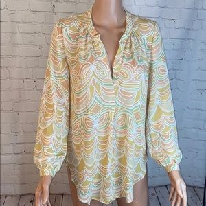 Olivaceous gorgeous pastel pattern colored blouse!